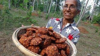 Spicy Village Snacks ❤ Masala Vada prepared by Grandma   Village Life