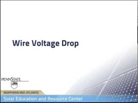 Wire voltage drop in pv systems youtube wire voltage drop in pv systems greentooth Choice Image