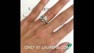 5 carat Round Diamond Engagement Ring thumbnail