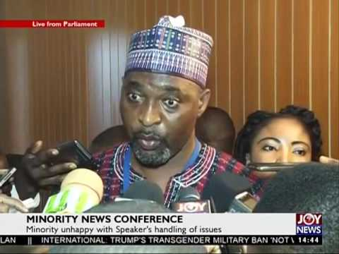 Minority News Conference on Joy News (27-7-17)