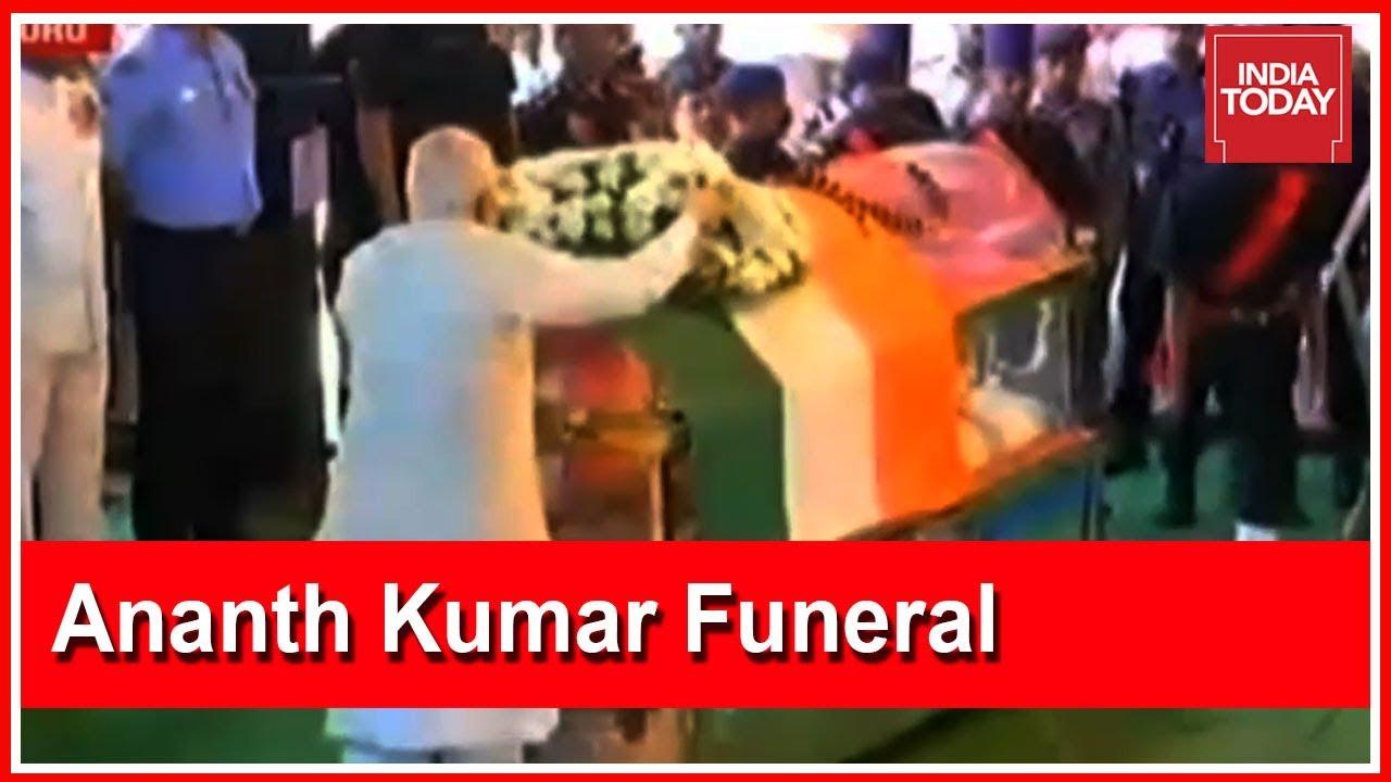 Last Rites Of Union Minister Ananth Kumar Underway In Bengaluru | Live Visuals