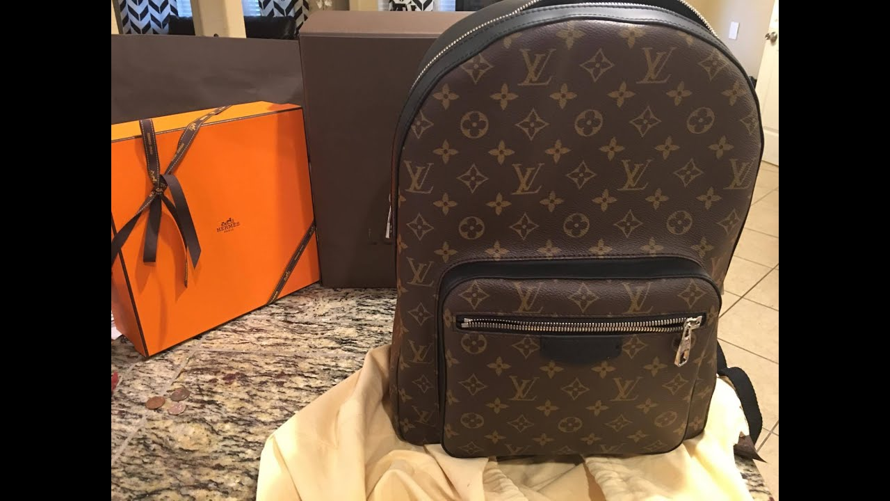louis vuitton backpack review unboxing youtube. Black Bedroom Furniture Sets. Home Design Ideas
