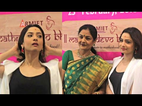Ankita Lokhande With Mother Shweta Lokhande At Alamuri Institute