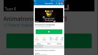 FNAF animotronics awakened roblox