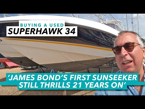 James Bond boat thrills 21 years on | Sunseeker Superhawk 34 used boat guide | Motor Boat & Yachting