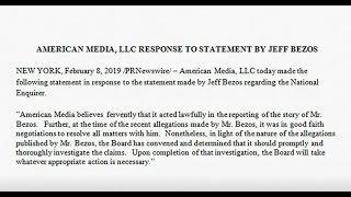 AMI says it acted lawfully despite Bezos' claims of extortion thumbnail