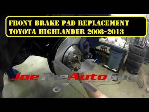 2008 2013 toyota highlander front brake pad replacement youtube. Black Bedroom Furniture Sets. Home Design Ideas