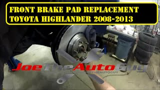 2008-2013 Toyota Highlander front brake pad  replacement