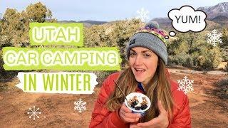 Utah Car Camping VĮog   Escaping Winter in the Desert!
