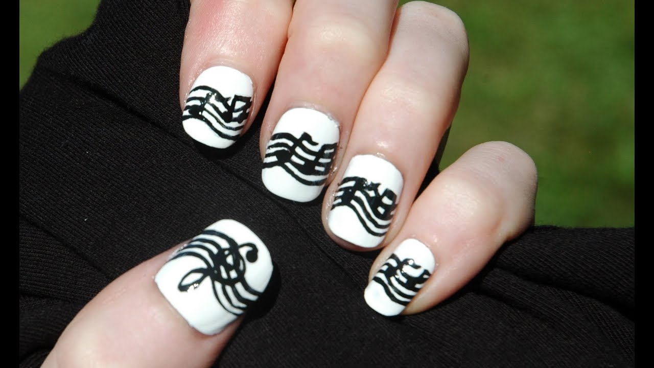 Music Note Nails - YouTube