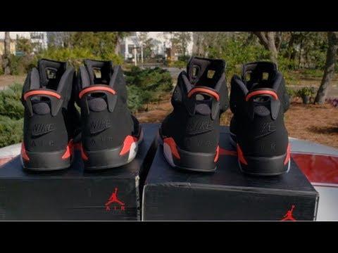 88d843d9815 2019 Black Infrared Jordan 6 Real vs Fake?? Gotta Watch 4 Da Hook💯