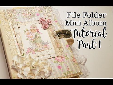 File Folder Mini Album Tutorial Part 1
