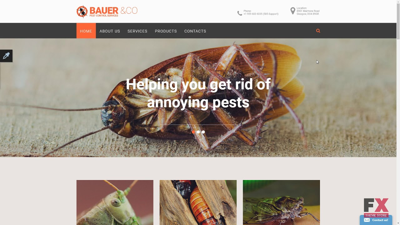 pest control responsive website template tmt free template russell