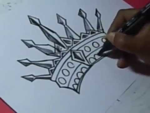 How To King Crown Drawing For Kids Step By Step Youtube