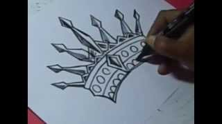 How to KING CROWN Drawing For Kids step by step