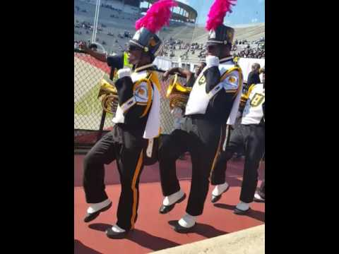 Alabama State Band Marcing into 2016 Magic City Classic