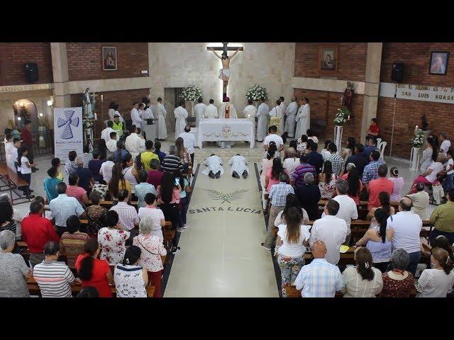 Santa Eucaristía parroquia Santa Lucía Ordenaciones Diaconales e Institución de Ministerios