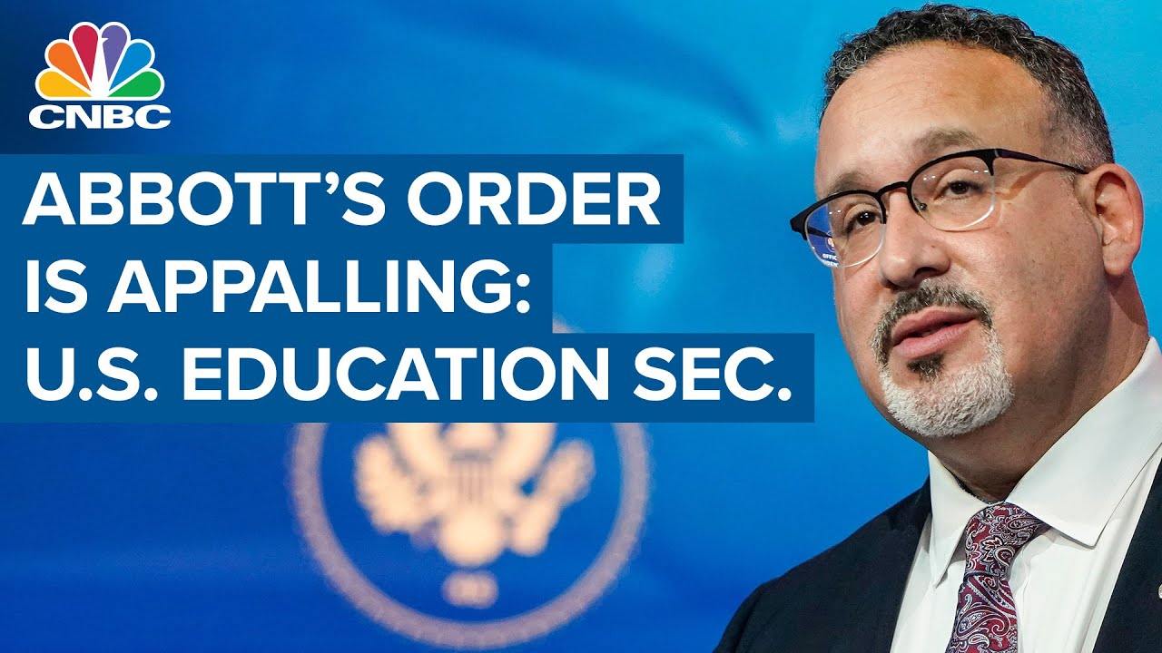 Download U.S. Education Sec. calls Texas Gov. Greg Abbott's anti-vaccine order 'appalling'