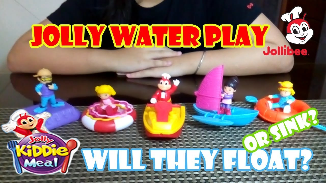 May 2019 Jollibee Kiddie Meal Jolly Water Play Complete