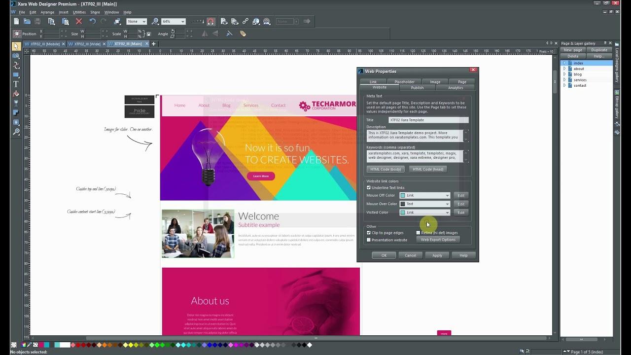 How To Change Photo Subtitles In Wowslider Xara Web Designer Youtube