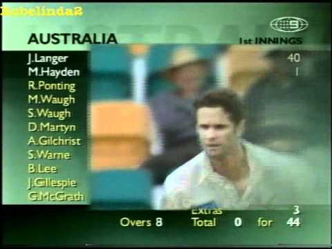 Hayden 1*, Langer 55* - Australia 0/60