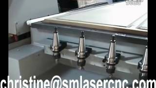 Cnc Router Row Atc Auto Tool Changer Ncstudio Control 5.5kw Water Cooling Spindle Atc Cnc Router