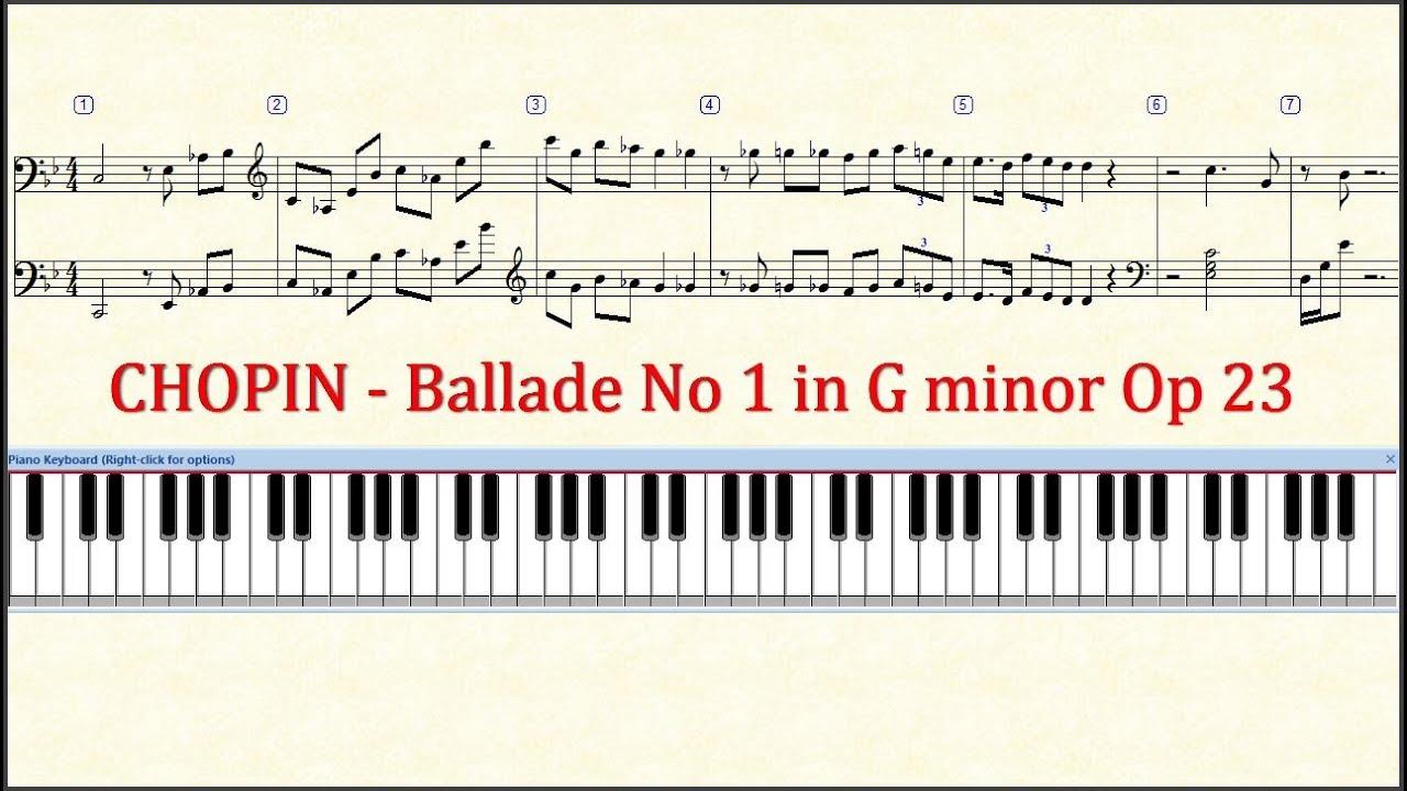 how to play ballade burgmuller