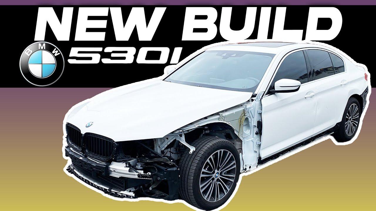 REBUILDING CRASHED 2020 BMW 530I, LIVE AUCTION 50% OFF! (part #1)