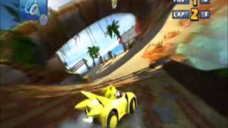 Sonic & Sega All-Stars Racing - Seaside Hill - Whale Lagoon