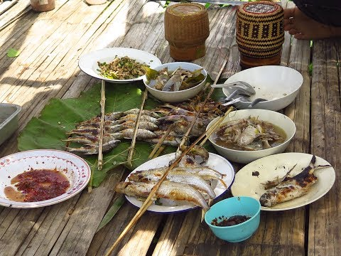 How to make Laos food , Fish Cooking , Eat Laos food 2017