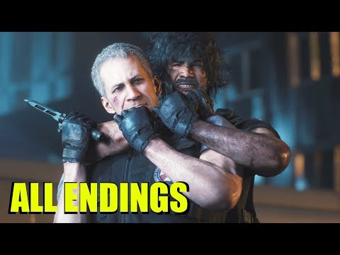 Resident Evil 3 Remake ALL ENDINGS & Postcredit Cutscene