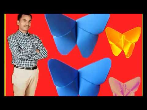 origami butterfly _ art and craft videos for school children  _ art and craft with colour paper easy