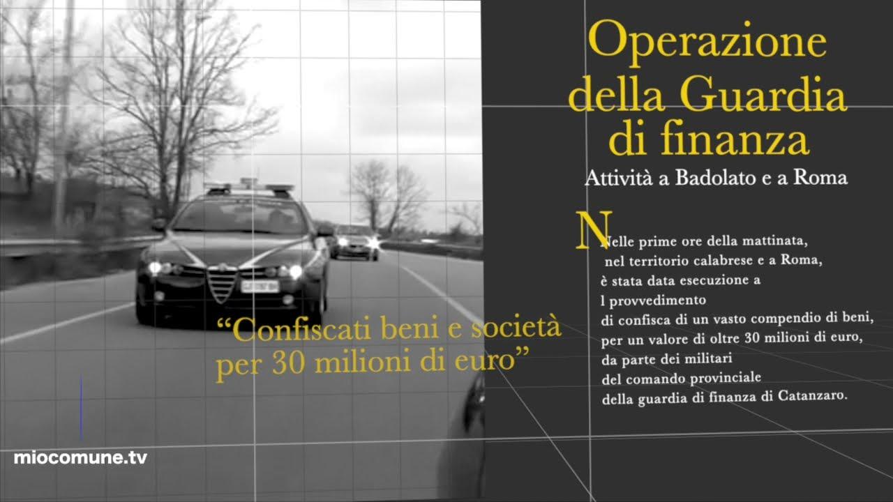 Catanzaro, confiscati società, immobili e vari beni per oltre 30 milioni di euro