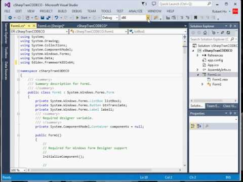 Converting a .NET Example Program with FREDI 32-bit to  a 64-bit (no audio)