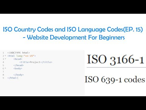 ISO Country Codes and ISO Language Codes(EP. 15) - Website Development For Beginners