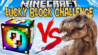 SPIRAL LUCKY BLOCK VS T-REX !   LUCKY BLOCK CHALLENGE  [FR]