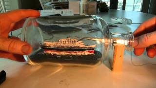 Andrea Doria Ship in a bottle or should I say Shipwreck in a bottle