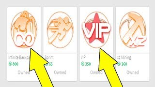 BOUGHT VIP AND ENDLESS BACKPACK ON MARS MINING SIMULATOR-ROBLOX