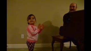 """3 Years Old Singing """"Days of The Week"""" with Father Accompanying"""