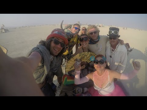 Burning Man 2017, GoPro Unedited Footage, Black Rock City, Nevada Desert
