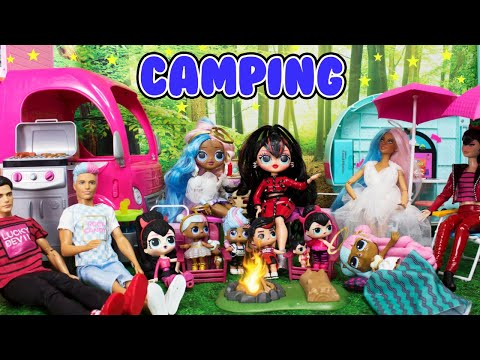 lol-spice-family-sugar-family-camping-trip-barbie-campfire-stories