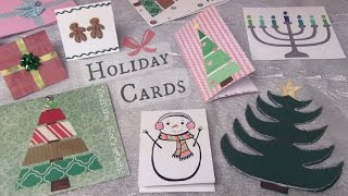 Easy Holiday Cards DIY // Christmas, Winter, & More - SoCraftastic Thumbnail