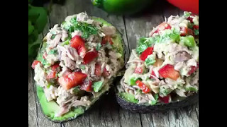HEALTHY TUNA STUFFED AVOCADOS