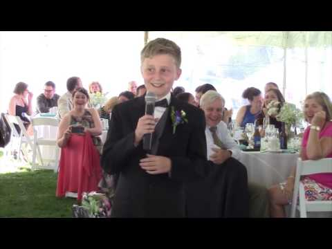 Adam Rivers - 11 year old kid crushes best man speech at uncle's wedding