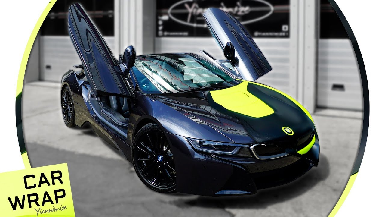 Bmw I8 Roadster Wrapped Fluorescent Yellow And Satin Black Youtube