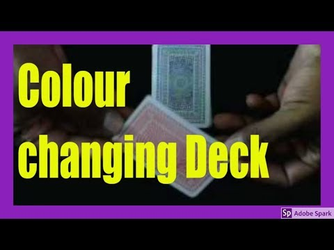 MAGIC TRICKS VIDEOS IN TAMIL #114 I Colour changing Deck @Magic Vijay