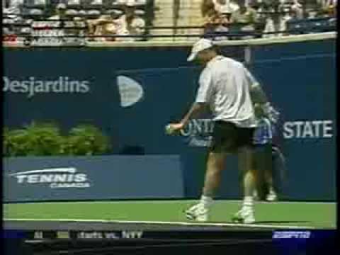 Melzer vs Agassi Toronto 2004