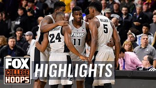Providence vs Sacred Heart | Highlights | FOX COLLEGE HOOPS