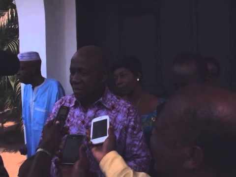 Lambert Kouassi Konan apres sa rencontre avec Banny