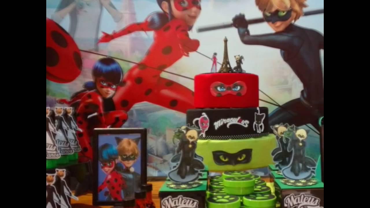 Decoração Youtube ~ Decoraç u00e3o lady bug festa miraculous YouTube